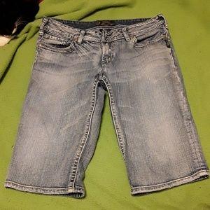 Silver Bermuda shorts 33